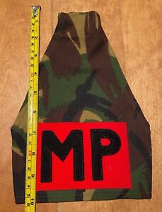 A British Army Military Police MP's shoulder brassard in DPM material, Unissued.