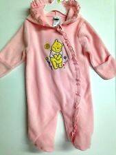 NWT Winnie The Pooh by Disney Baby Girls Pink Hoodie Footed Outfit 0-3 Month
