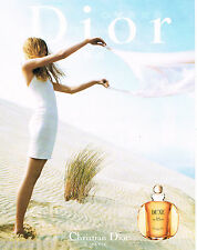 PUBLICITE ADVERTISING 065  2000  DIOR  eau de toilette DUNE