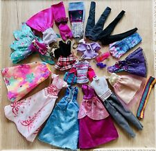 BARBIE DOLL CLOTHES Big LOT Dresses Gowns Skirt Tops Mixed Lot Of Modern Vintage