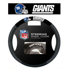 New York Giants Black Poly-Suede & Mesh Steering Wheel Cover