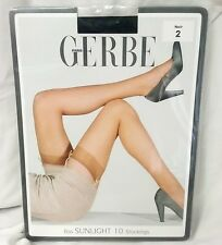 Gerbe Paris Stay-up hosiery sunlight Thigh-Highs ultra sheer shiny Stockings $40