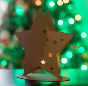Stainless steel star with tealight - 2 for the price of 1
