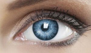 Farbige Blau Kontaktlinsen Karneval Fasching Halloween - COOL BLUE - PLANO