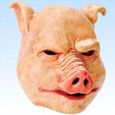 Vollmaske Schwein Pig mask Tiermaske Schweinemaske Masken Karnevalsmaske