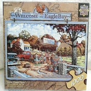 """Welcome to Eagle Bay """"Stone Creek Farm"""" A Master Pieces 1000 Piece Jigsaw Puzzle"""