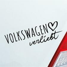 Auto Aufkleber für Volkswagen Fans verliebt Herzschlag Marke Liebe Car Sticker