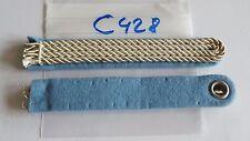 Schulterstücke Leutnant silbern auf hellblau zum einnähen 1 Stück neu (c428-)