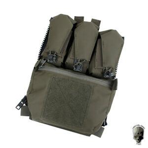 TMC Zip-on Panel Pouch Assault Back Panel Pack For FCV Plate Carrier Vest Gear