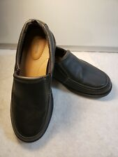 George Boy's Faux Leather Slip On Oxford Dress Shoes - Black - 2