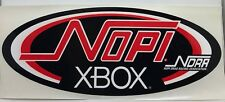 Official NOPI X Box NDRA Drag Racing Series Sticker Decal