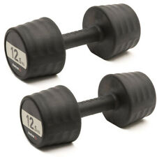 Reebok 2 x 12.5kg Dumbbells Pair Hand Weights Lifting Strength Home Gym Training