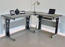 WestWood L-Shaped Corner Computer Desk PC Table Home Office Study CD11 Black