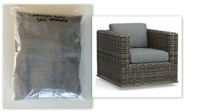New Pottery Barn Huntington Square Swivel Lounge Chair Cushion Slipcover Silver