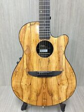Haze 836CEQGC Round-Back Acoustic Guitar,Spaltted Top+Padded Bag,Accessory Pack!