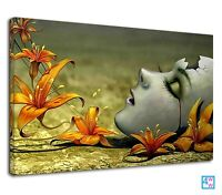 Helpless Woman Digital Surrealism Art For Bedroom Canvas Wall Art Picture Print