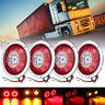 4X 12V/24V Round LED Tail Light For Trailer Truck Camper Turn Signal Lamp AU