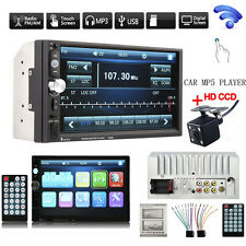 2DIN 7023B 7Inch LCD FM Radio Bluetooth Car Stereo MP5 Player +4X LED Car Camera