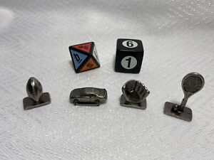 Scene It? ESPN Edition Replacement Part Metal Pawn Mover Token Dice 6 Pieces