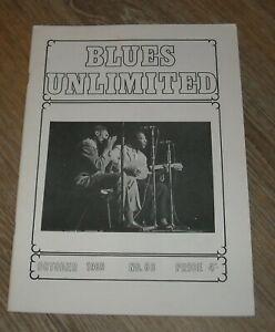 October 1969 BLUES UNLIMITED # 66 UK MAGAZINE BIG WALTER SHAKEY HORTON JB LENOIR