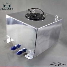 5 Gallon 19 Liter Racing Drift Fuel Cell Tank Polished Aluminum W/ Level Sender