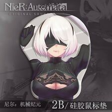 New Game NieR:Automata YoRHa 2B Breast 3D Mouse Pad Game Mat Playmat Wrist Rest