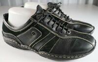 Josef Seibel Caspian Basalt Leather Sneakers Lace Up Oxfords Women's 37 / 6-6.5