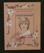 Central Africa 1982 Block Lady Diana  gestempelt