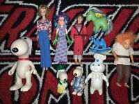 vintage mixed Action Figure toy lot