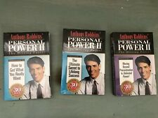 Lot of 3 New Anthony Tony Robbins Personal Power II Driving Force Cassette Tapes