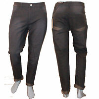 Mens Grey Slim Fit Chino Jeans Trousers Straight Leg Casual Smart Charcoal