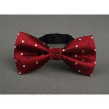 Men Jacquard Polka Dot Pre-tied Bow Tie Polyester Party Wedding Bowtie QNTIE0002