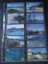 1999 BEACHES OF ESPIRITO SANTO Set of 11 Different Phone Cards from Brazil