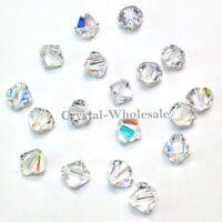 Crystal AB (001 AB) Genuine Swarovski 5328 2.5mm Xilion Bicone Beads *Pick Qty