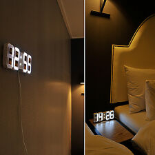 [mooas] mooas silent 3D LED digital wall clock, standing and hanging able clock