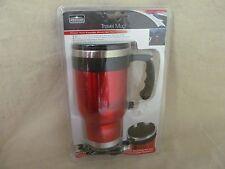 Stainless Steel Heated Auto Travel Mug 16oz 12V  Cigarette Lighter Cup Holder