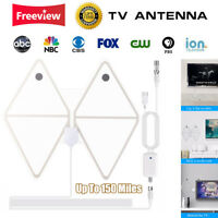 HD TV Antenna 150 Miles VHF UHF Freeview DVB-T Aerial Signal Amplifier Booster