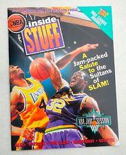 NBA INSIDE STUFF MAGAZINE, Karl Malone, Byron Scott UNCUT SHEET 9 Cards NO LABEL