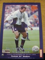 29/11/1997 Bolton Wanderers v Wimbledon  (Light Fold)