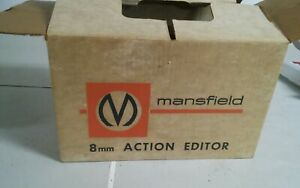 Vintage Argus Mansfield 8mm Action Film Editor Original Box No. 2000 Works