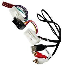 Adaptateur câble ISO USB RCA autoradio compatible Hyundai H1 IX35 Tucson i10 i20
