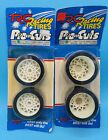 Vintage TRC Racing Tires Pro Cuts Front Rear 1/10 BBS Foam Bolink Pan Car White