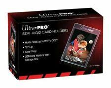 200 Ultra Pro Semi Rigid Card Holders - #81150 - One Factory Sealed Box - NEW!!