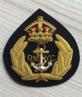 ORIGINAL ROYAL MELBOURNE YATCH CLUB GOLD CAP BADGE R.M.Y. C.