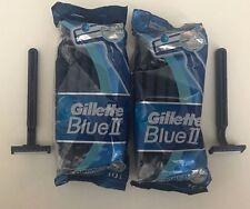 20 Gillette Blue II-Long Lasting Razor Blades-Chromium Coating-Men/Women