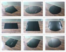 SCHWARZE Glasbodenplatte Kamin Funkenschutz Platte Glasplatte