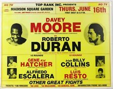 DAVEY MOORE vs ROBERTO DURAN 8X10 POSTER PHOTO BOXING PICTURE