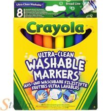 8 Colour Crayola Ulta Clean Washable Broad Line Marker Pens