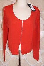 Gilet court rouge neuf taille XL marque Diplodocus 100% laine étiqueté à 119€