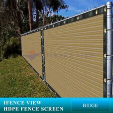 Ifenceview 4'x25' Beige Fence Privacy Screen Mesh for Construction Yard Garden